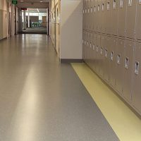 Locker Room - Rubber Flooring