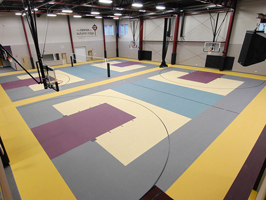 Autumn Ridge Church Gym Rubber Flooring