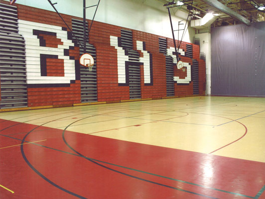 Barrington High School Gym Rubber Flooring
