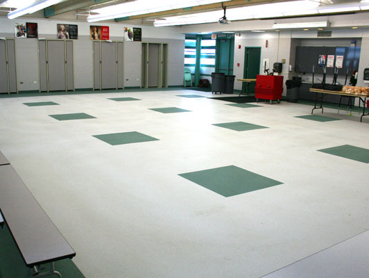 Brentwood School Rubber Flooring