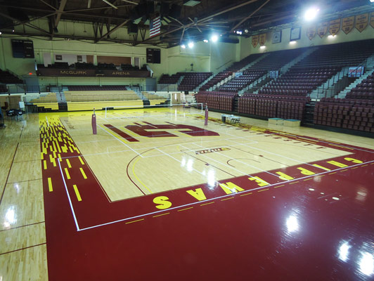 Central Michigan University Gym Rubber Flooring