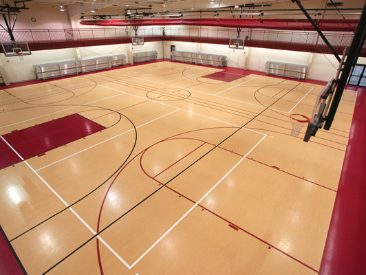 Crossroads Church Gym Rubber Flooring