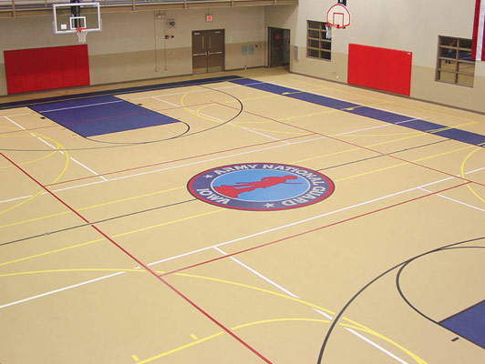 Estherville High School Gym Rubber Flooring