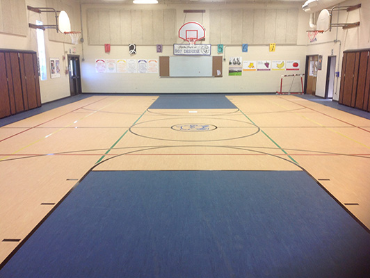 Elsie Middle School - Gym Rubber Flooring