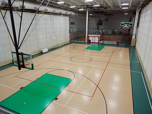 Libertyville Sports Complex - Gym Rubber Floor