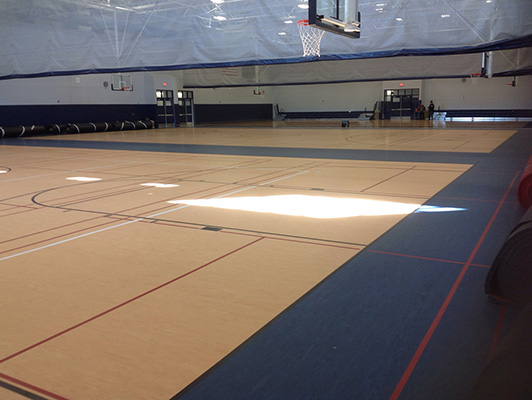 Oswego East High School - Gym Rubber Floor