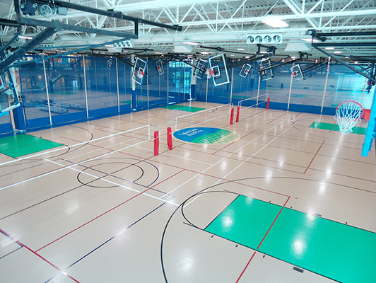 Pleasant Prairie Rec Plex - Gym Rubber Flooring