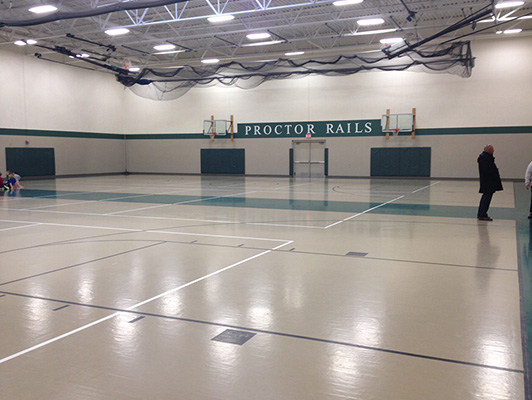 Proctor High School - Rubber Gym Flooring