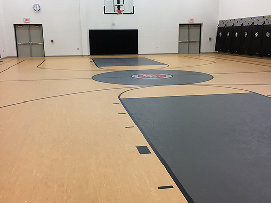 Holmes Elementary School - Rubber Gym Flooring
