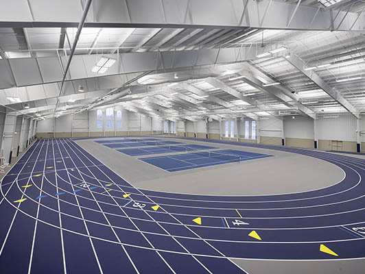 Hillsdale College - Indoor Track / Fieldhouse Flooring