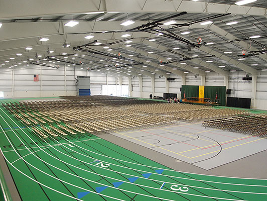 Tiffin University - Indoor Track / Field House Flooring