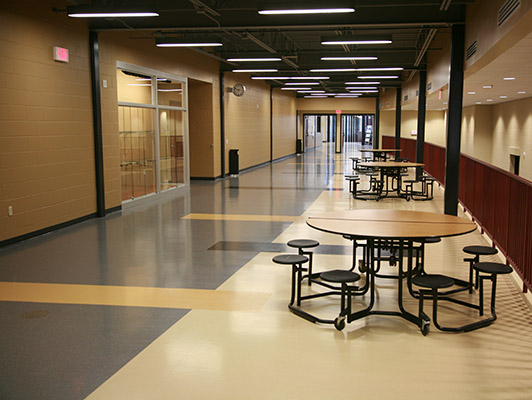 Jefferson High School Rubber Flooring