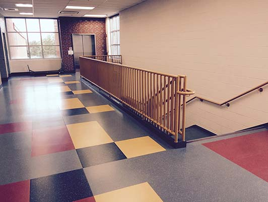 Jessie M Clark Middle School Rubber Flooring