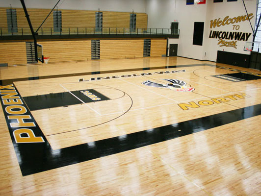 Lincoln-Way North High School Gym Rubber Flooring