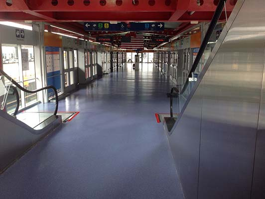 O'Hare International Airport Rubber Flooring