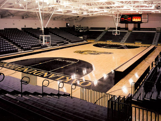 Oakland University Gym Rubber Flooring