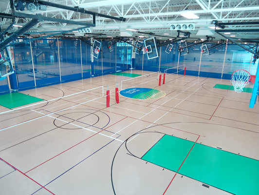 Pleasant Prairie RecPlex Exercise Flooring