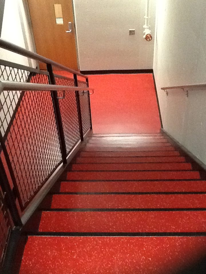 St. Cloud State Stairwell Rubber Flooring