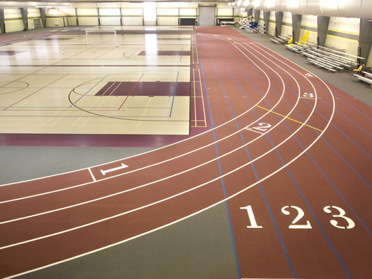 Sycamore High School Rubber Gym Flooring