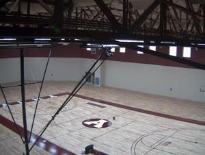 Alma College Basketball Flooring