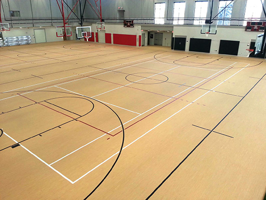 Basketball court flooring basketball flooring for Basketball gym floor plan