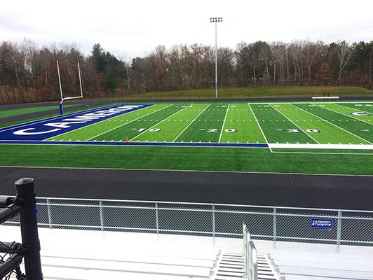 Cameron High School Football Artificial Turf