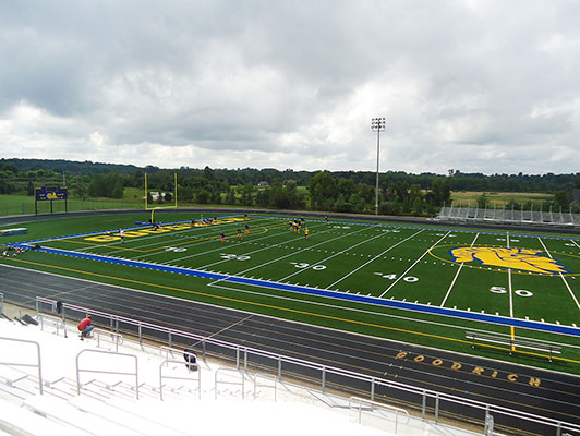 Goodrich High School Football Field Artificial Turf