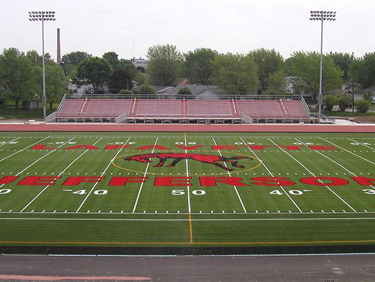 Jefferson High School Football Field Artificial Turf