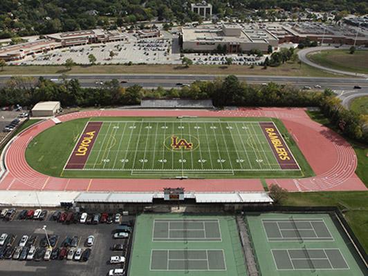 Loyola Academy Football Field Artificial Turf