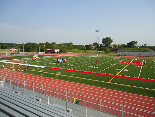 Mundelein High School Football Field Artificial Turf