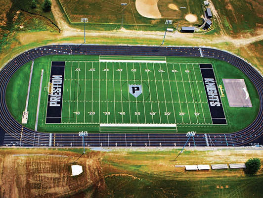 Preston High School Football Field Artificial Turf