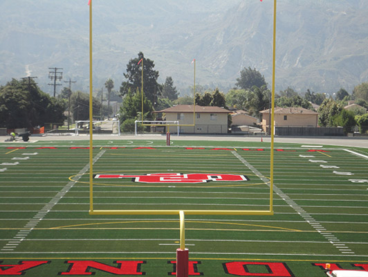Santa Paula High School Football Field Artificial Turf