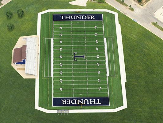 Football Field Turf Trine State University