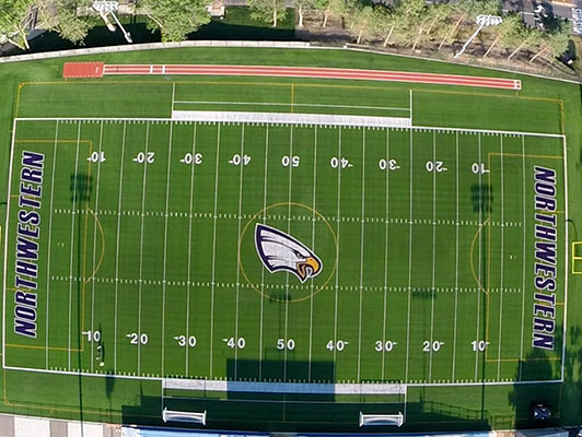 University Of Northwestern Football Synthetic Turf