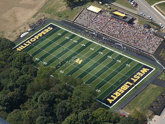 West Liberty University Football Synthetic Turf