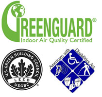 Greenguard certified, leed scoring, ada requirements commercial rubber flooring