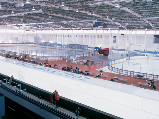 Salt Lake City Olympics Ice Arena Flooring