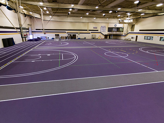 Albion College - Indoor Track / Sports Hall Flooring