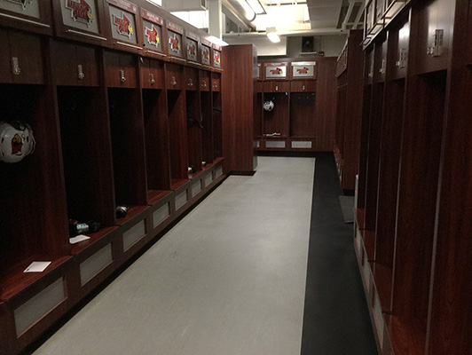Campbell Baseball Locker Room