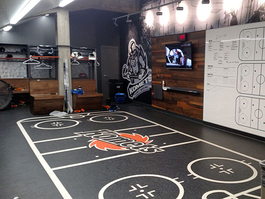 Komets Hockey - Locker Training Room Flooring