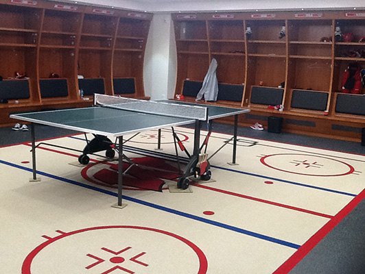 University Of Wisconsin Locker Room Flooring