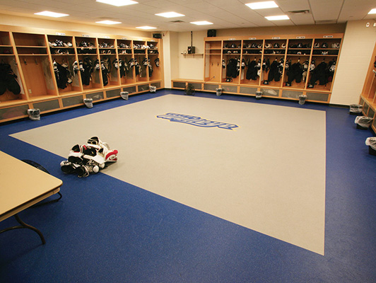 Locker Room Floor - Toledo Walleyes
