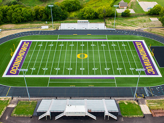 Oconomowoc High School Artificial Football Field Turf