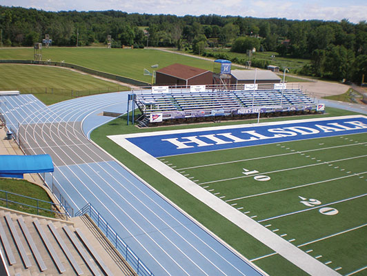 Hillsdale College - Running Track Surfaces - Artificial Field Turf