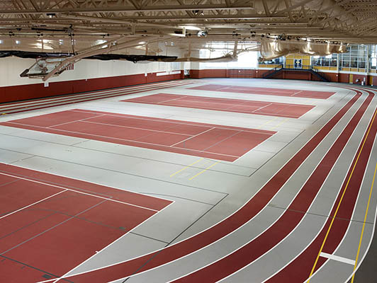 Central College Running Track Flooring