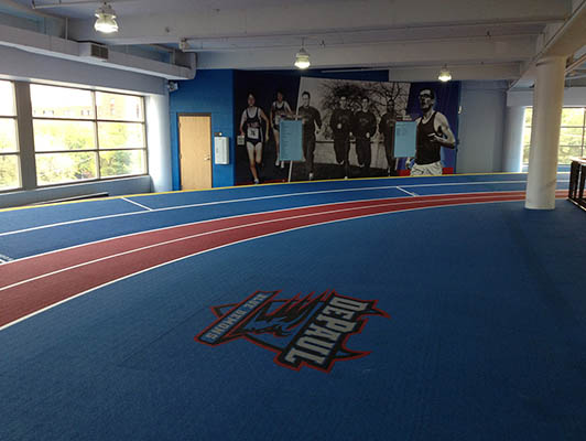 Depaul University Running Track Flooring