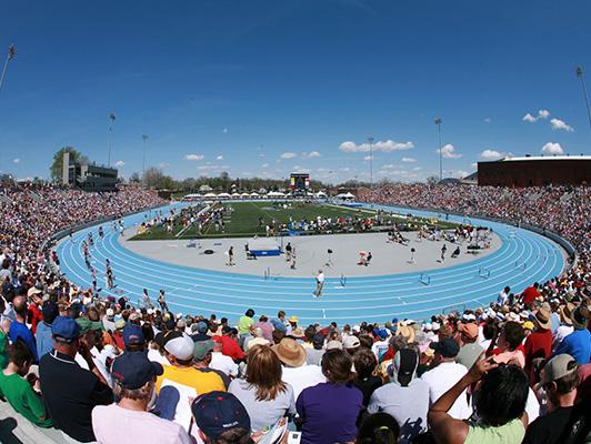 Drake University Running Track Flooring