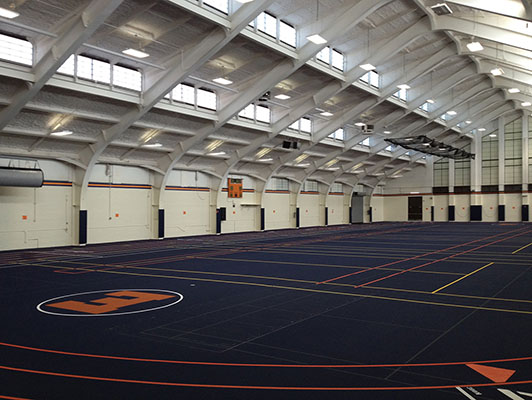 Evanston High School Running Track Surfaces