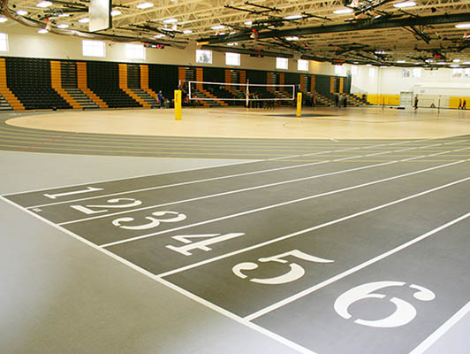 Joliet West High School Running Track Flooring