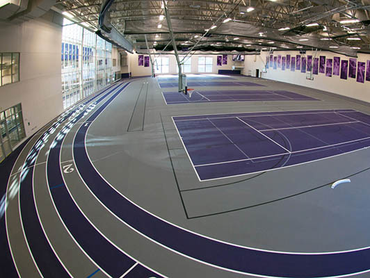 University Of St. Thomas Running Track Surfaces